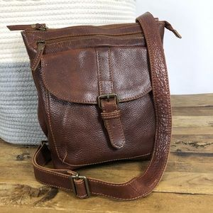 Fat Face Lily Rich Grain Leather Crossbody